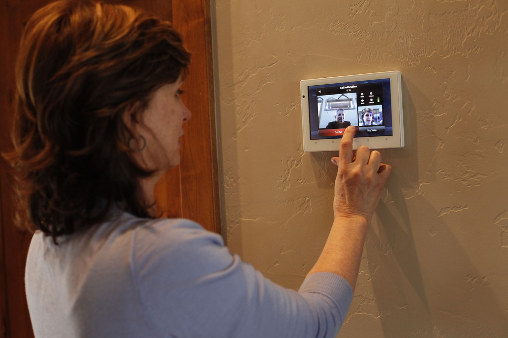 control with in wall touch panel